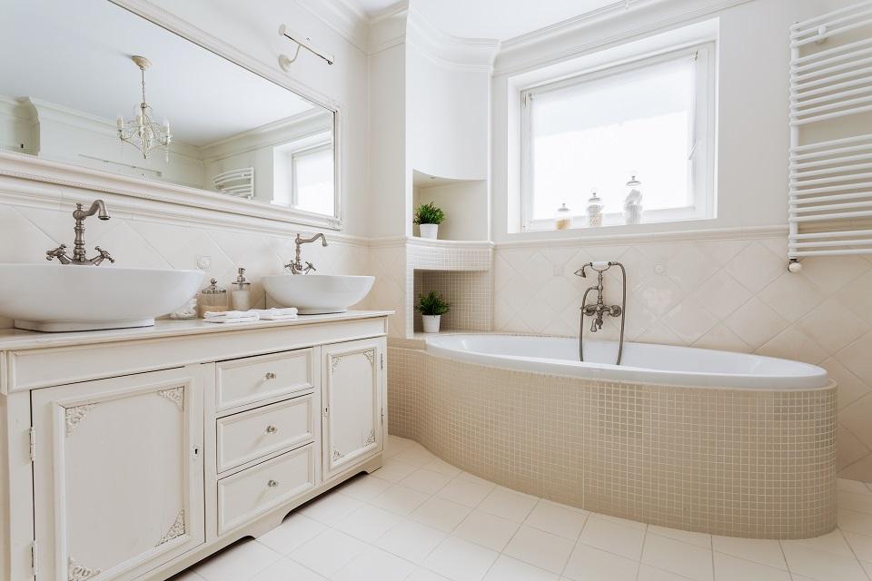 ванная комната в ретро
